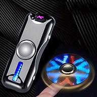 Hộp Quẹt Bật Lửa Hồng Ngoại Sạc Điện Qua Cổng USB Kiểu Dáng Spinner 2 Cánh BD-915 Tạo 18 Hiệu Ứng Đèn Led ( Giao Màu Ngẫu Nhiên ) thumbnail