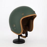 Mũ bảo hiểm 3 4 SRT lót nâu xanh lính nhám, đơn giản nhưng bụi bặm đậm chất riêng thumbnail