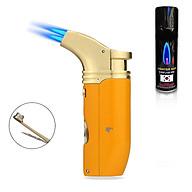 Hộp Qụet Bật Lửa Khò 2 Tia kiêm Bộ Dụng Cụ Đa Năng Tiện Lợi COB-422 Đẹp Độc Lạ ( giao màu ngẫu nhiên ) + Tặng Bình Gas Chuyên Dụng Cho Bật Lửa thumbnail