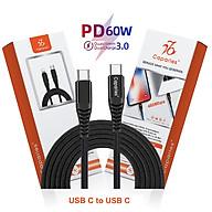 Dây Cáp Sạc 60W USB Type C To Type C Chuẩn QC 3.0 Caparies CPR V4 - Hàng Chính Hãng thumbnail