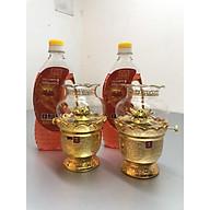 Combo 2 chiếc đèn thờ đốt dầu nhũ kimsa( tặng kèm 2 chai dầu 500ml) - TL217 thumbnail