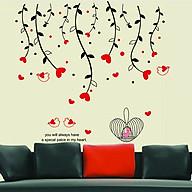 Decal dán tường trang trí phòng khách, quán cafe- Tán dây trái tim đẹp mắt- mã sp DAY828 thumbnail