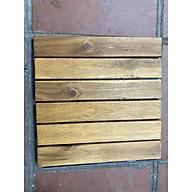 Combo 10 tấm sàn gỗ tự nhiên vỉ nhựa ngoài trời, 6 nan vàng, nâu đỏ,gi thumbnail