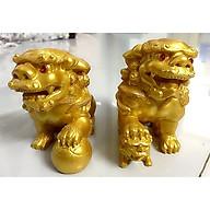 Cặp Tượng Kỳ Lân Phong Thủy - Màu vàng nhũ thumbnail