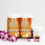 Liệu trình 2 hộp Keto Collagen 500g [Chính Hãng] - Bữa ăn Keto hỗ trợ GIẢM CÂN SIÊU TIỆN LỢI cho người thực hành Keto và người muốn giảm cân - Giảm 3-7Kg 1 tháng [Tặng 1 hộp Sữa giảm cân tiêu chuẩn châu Âu Hera Slimfit 100g và 1 Thước dây] thumbnail