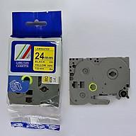 Set 5 cuộn Nhãn in TZ2-651 tiêu chuẩn - Chữ đen trên nền vàng 24mm ( Hàng nhập khẩu) thumbnail