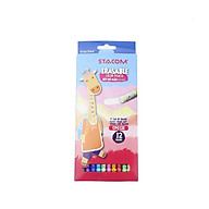 Bút chì màu gỗ xóa được Stacom 24 12 màu CP024E thumbnail