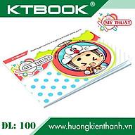 Gói 10 cuốn Tập Vẽ Mỹ Thuật cao cấp giá rẻ KTBOOK giấy trắng không lem ĐL 100gsm khổ A4 - 40 trang thumbnail