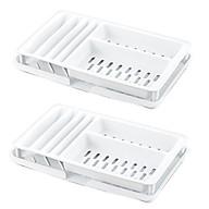 Bộ 2 kệ úp bảo vệ bát đĩa tiện dụng (màu trắng) - Hàng nội địa Nhật thumbnail