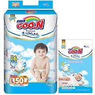 Tã Dán Goo.n Premium Gói Cực Đại L50 (50 Miếng) - Tặng thêm 8 miếng cùng size thumbnail