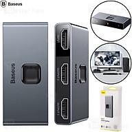Baseus HDMI hai chiều - Bộ chuyển đổi bộ chia HDMI 2x 4K 30 Hz màu xám (CAHUB-BC0G) - hàng chính hãng thumbnail