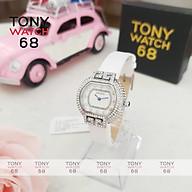 Đồng hồ nữ Guou chính hãng chống nước viền đá kim cô dây da kim xanh 6038 thumbnail