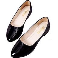 Giày búp bê da bóng mềm dáng chuẩn -304 Đen thumbnail