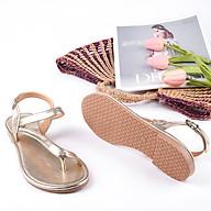 Sandal bệt nữ, chiều cao 1CM, da tổng hợp nhập khẩu cao cấp êm ái, bền chắc và thời trang.Mũi tròn, đế bệt, thiết kế hiện đại, tinh tế, thời trang SD.N1.1F.Nhũ Bạc thumbnail