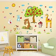 Decal dán tường trang trí phòng ngủ, lớp mầm non- Thú táo- mã sp DXL8205 thumbnail