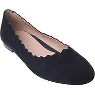 Giày Búp Bê Mũi Tròn Răng Cưa Scala SCL 6827 - Đen thumbnail
