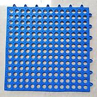 Thảm Chống Trơn Trượt Nhà Tắm Kháng Khuẩn Lỗ Ghép Nhựa PVC Dẻo Cao Cấp Hàng Việt Nam ( Giao Mầu Ngẫu Nhiên ) thumbnail