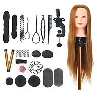 Mannequin Head with Clamp Holder for Braiding Hair Styling Practice Manikin Head for Hairdresser Professional thumbnail