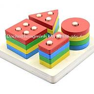 Thả Hình Khối Luồn Cọc vuông Montessori thumbnail