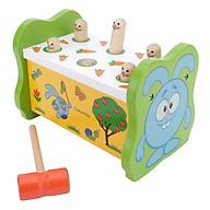 Bộ đồ chơi gỗ đập chuột xanh giúp bé rèn luyện tay khéo mắt tinh thumbnail