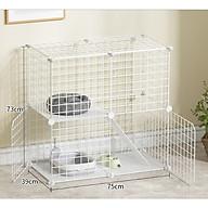 Chuồng chó mèo 2 tầng, thiết kế lưới tĩnh điện đa năng, tiện dụng, dễ dàng lắp ráp và sử dụng thumbnail