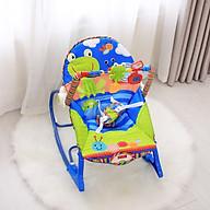 Ghế rung nhún đa năng cho bé sơ sinh, thiết kế đẹp, phát nhạc, thanh treo đồi chơi vui nhộn thumbnail