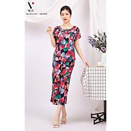 Bộ đồ nữ mặc nhà trung niên cho các bà, các mẹ - Bộ đồ ngủ Tole (lanh) - Bộ mặc nhà trung niên vải lanh (tole) Vicci BGS.082, thiết kế áo cộc tay phối quần ống sớ in hoạ tiết (Màu 4-10-11-13-16-17) thumbnail