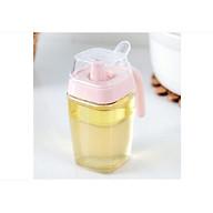 Bình đựng dầu ăn, nước tương, nước mắm thủy tinh giao màu ngẫu nhiên thumbnail