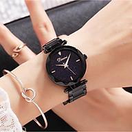 Đồng hồ nữ cao cấp Dimini D5280 dây thép mặt đá Sapphire fullbox chống nước chống xước sành điệu thumbnail