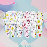SÉT 5 Bộ cotton giấy TAY DÀI thoáng mát kute cho bé trai, bé gái - GIAO HỌA TIẾT NGẪU NHIÊN thumbnail