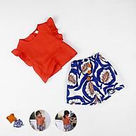 Set áo croptop + quần tole Quảng Châu cho bé gái 02599-02600(2) thumbnail