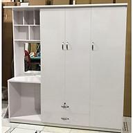 Tủ quần áo đa năng Juno Sofa - Ngang 1m85 x1m85 x 0,5 m (Trắng) thumbnail