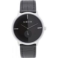 Đồng hồ Neos N-40679M nam dây da đen thumbnail