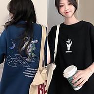 Áo thun nữ tay lỡ SAM CLO freesize phông form rộng dáng Unisex mặc cặp, nhóm, lớp in hình PHI HÀNH GIA thumbnail