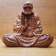Tượng đạt ma sư tổ ngồi thiền gỗ bách xanh thơm thumbnail