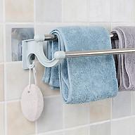 Thanh đôi dán tường treo khăn nhà tắm có móc thumbnail