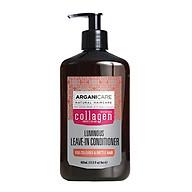 Kem dưỡng tạo kiểu tóc xoăn ARGANICARE COLLAGEN LEAVE-IN CONDITIONER 400ml ISRAEL thumbnail