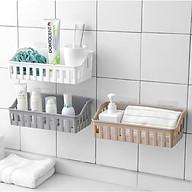 Kệ để đồ dán tường cho phòng tắm và nhà bếp (Giao ngẫu nhiên mẫu) tặng kèm khăn tắm nhật bản thumbnail