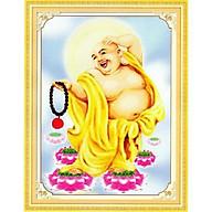 Tranh thêu chữ thập Phật Di Lặc (49 64cn) chưa thêu thumbnail