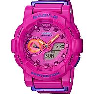 Đồng hồ nữ dây nhựa casio BGA-185FS-4ADR thumbnail