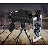 Ống nhòm một mắt cao cấp đa năng kẹp điện thoại chụp ảnh từ xa có khả năng chống nước 40x60 ( Hình ảnh rõ nét - Tặng kèm miếng thép để ví 11 chức năng trong 1 ) thumbnail
