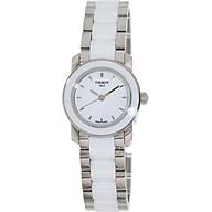 Tissot Women s T0642102201100 Cera Silver-Tone Ceramic Watch thumbnail