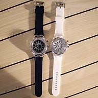 COMBO 2 Đồng Hồ Phát Sáng Thạch Anh NAM NỮ (trắng đen) - Tặng kèm 2 Vòng đeo tay cao cấp thumbnail