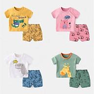 Đồ bộ cộc tay cho bé trai và bé gái chất cotton 4 chiều QATE639 thumbnail