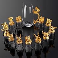 Bộ cốc chén rượu thủy tinh 12 con giáp có hộp đựng thumbnail