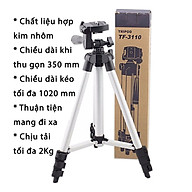 Tripod Chân Đế Giá Đỡ Điện Thoại LiveStream - Action Camera GoPro - Máy Ảnh Cỡ Nhỏ Với 3 Chân Vững Chắc - KhoNCC Hàng Chính Hãng - KPD-1616-Tripod3310 (Bạc, Đen) thumbnail