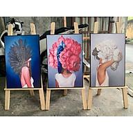 - Bộ 3 Tranh canvas giá xưởng - Tranh Treo Tường - Tranh treo tường canvas tặng kèm đinh thumbnail