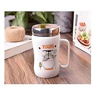 Ly sứ giữ nhiệt có nắp gương, cốc in hình totoro dễ thương dung tích 450ml mã CS05 - giao họa tiết ngẫu nhiên thumbnail