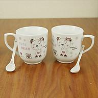 Cặp cốc (ly) sứ cao cấp kèm thìa và hộp quà tặng vô cùng ý nghĩa thumbnail