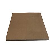 Đệm vuông ngồi bệt, ngồi thiền ruột mút 54cm x 54cm vỏ kaki màu rêu vàng thumbnail
